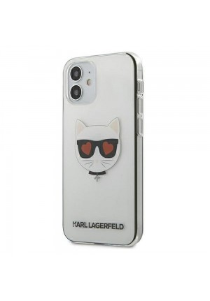ΘΗΚΗ ΓΙΑ APPLE IPHONE 12 MINI KARL LAGERFELD FACEPLATE CLEAR (KLHCP12SCLTR)