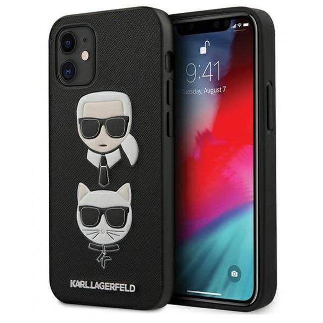 ΘΗΚΗ ΓΙΑ APPLE IPHONE 12 MINI KARL LAGERFELD FACEPLATE BLACK (KLHCP12SSAKICKCBK)