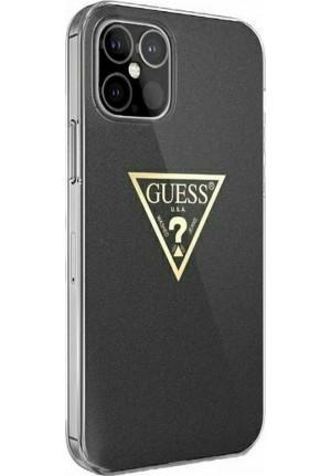 ΘΗΚΗ ΓΙΑ APPLE IPHONE 12 PRO MAX FACEPLATE GUESS BLACK GUHCP12LPCUMPTBK