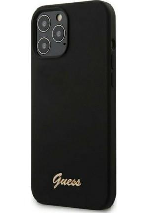 ΘΗΚΗ ΓΙΑ APPLE IPHONE 12 PRO MAX FACEPLATE GUESS BLACK GUHCP12LLSLMGBK