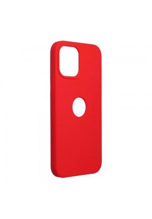 ΘΗΚΗ ΓΙΑ APPLE IPHONE 12 PRO MAX FORCELL SILICONE RED (WITH HOLE)