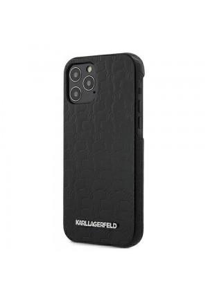 ΘΗΚΗ ΓΙΑ APPLE IPHONE 12 PRO MAX KARL LAGERFELD FACEPLATE BLACK (KLHCP12LPUKBK)