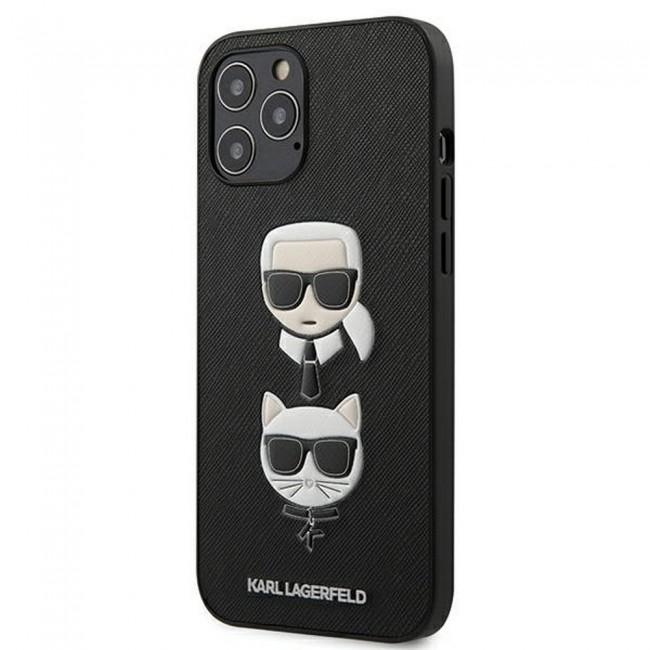 ΘΗΚΗ ΓΙΑ APPLE IPHONE 12 PRO MAX KARL LAGERFELD FACEPLATE BLACK (KLHCP12LSAKICKCBK)