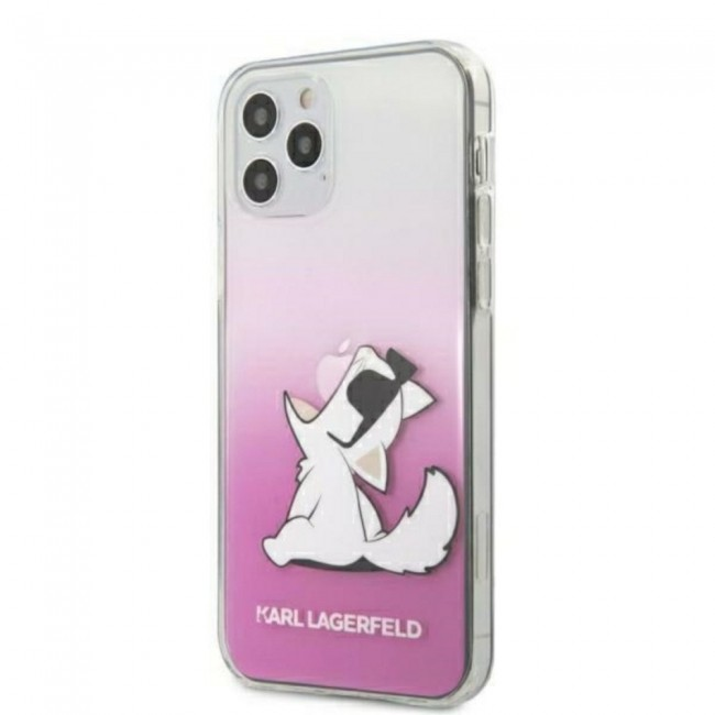 ΘΗΚΗ ΓΙΑ APPLE IPHONE 12 PRO MAX KARL LAGERFELD FACEPLATE PINK (KLHCP12LCFNRCPI)