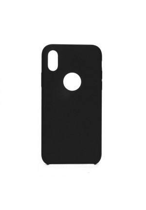 ΘΗΚΗ ΓΙΑ APPLE IPHONE X/XS FORCELL SILICONE WITH HOLE BLACK