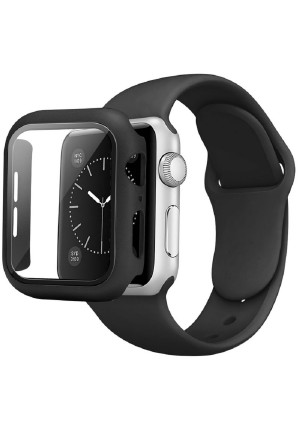 CASE AND STRAP FOR APPLE WATCH 44mm BLACK