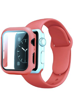 CASE AND STRAP FOR APPLE WATCH 44mm PINK