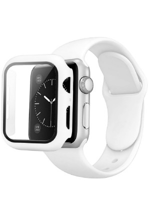 CASE AND STRAP FOR APPLE WATCH 44mm WHITE