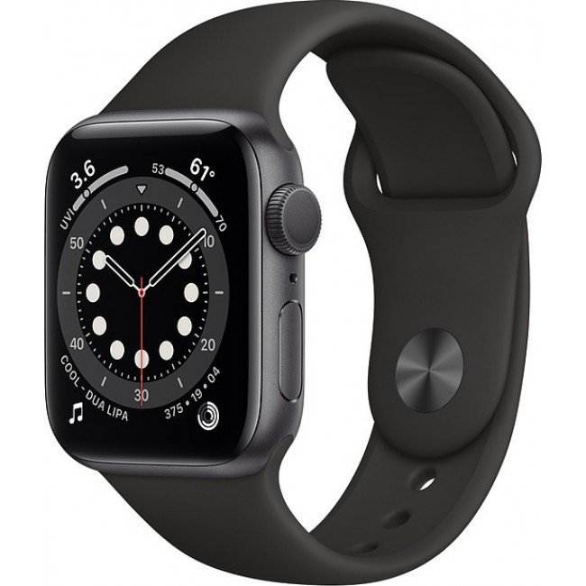APPLE WATCH 6 40mm GPS GREY/BLACK SPORT BAND MG133 EU