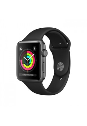 APPLE WATCH 3 38mm SPACE GREY SPORT BAND BLACK MTF02 EU