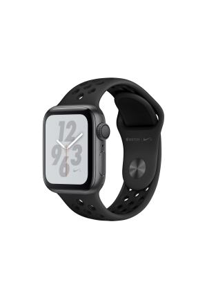 APPLE WATCH 4 NIKE+ 40mm GPS GREY ALUMINIUM BLACK SPORT BAND MU6J2