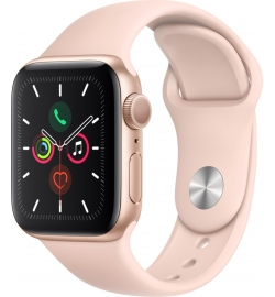 APPLE WATCH 5 40mm GPS GOLD WITH PINK SPORT BAND EU (MWV72)