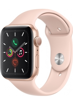 APPLE WATCH 5 44mm GPS+CELLULAR GOLD ALUMINUM WITH PINK SAND SPORT BAND EU (MWWD2)