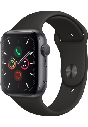 APPLE WATCH 5 44mm GPS+CELLULAR GREY ALUMINUM WITH BLACK SPORT BAND EU (MWWE2)