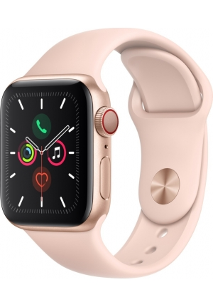 APPLE WATCH 5 40mm GPS+CELLULAR GOLD ALUMINUM WITH PINK SPORT BAND EU (MWX22)