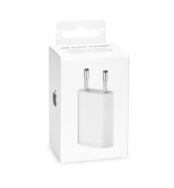 Apple Lightning Cable & Wall Adapter Λευκό (MB707ZM/B+MD818) Blister
