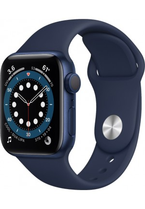 APPLE WATCH 6 40mm GPS BLUE/DEEP NAVY SPORT BAND EU MG143FD/A