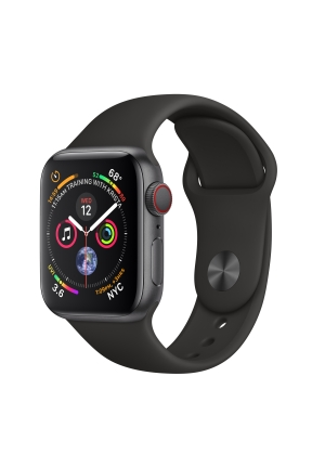 APPLE WATCH 4 40mm GPS+CELLULAR SPACE GREY ALUMINIUM WITH BLACK SPORT BAND MTVD2 EU