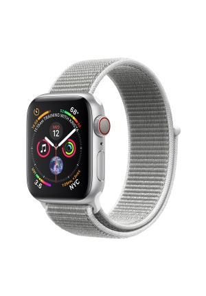 APPLE WATCH 4 40mm GPS+CELLULAR SILVER ALUMINIUM WITH SEASHELL LOOP BAND MTVC2 EU