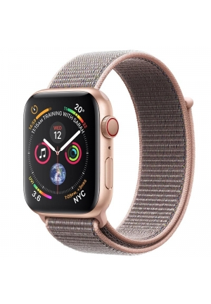 APPLE WATCH 4 40mm GPS+CELLULAR GOLD ALUMINIUM WITH PINK SAND SPORT LOOP MTVH2 EU