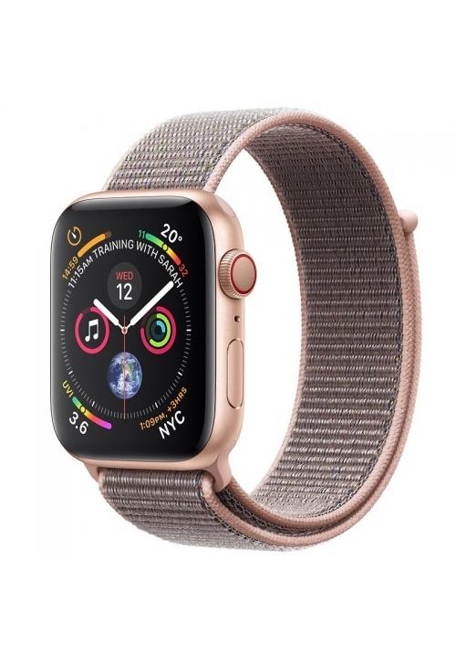 APPLE WATCH 4 40mm GPS+CELLULAR GOLD ALUMINIUM WITH PINK SAND SPORT LOOP MTVH2 EU