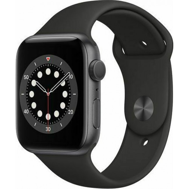 APPLE WATCH 6 44mm GPS GREY/BLACK SPORT BAND M00H3 EU