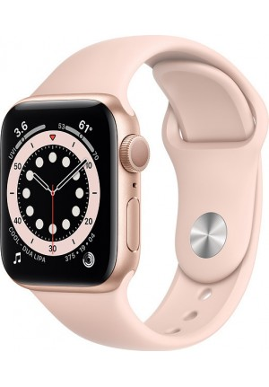 APPLE WATCH 6 44mm GPS GOLD/PINK SPORT BAND M00E3 EU