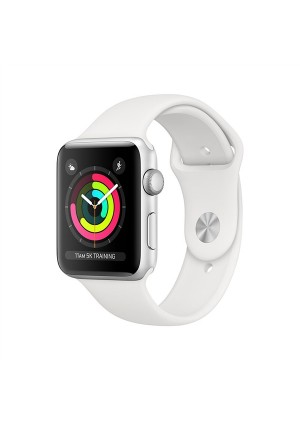 APPLE WATCH 3 42mm SILVER SPORT BAND WHITE MTF22 EU
