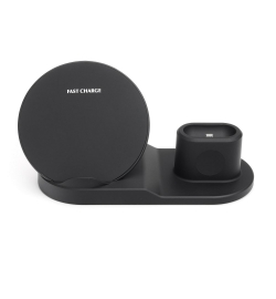 WIRELESS CHARGER SET FOR APPLE (MOBILE - WATCH - AIRPODS) 10W BLACK