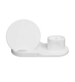 WIRELESS CHARGER SET FOR APPLE (MOBILE - WATCH - AIRPODS) 10W WHITE