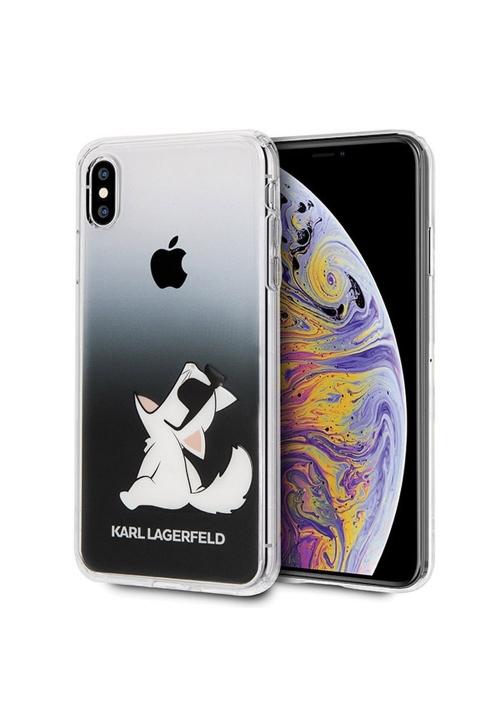 Θήκη για Apple Iphone XS Max FacePlate Karl Lagerfeld Clear (KLHCI65CFNRCBK)