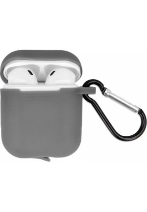 Θηκη για Apple Airpods Senso Silicone with Holder Grey SEBPG2RG