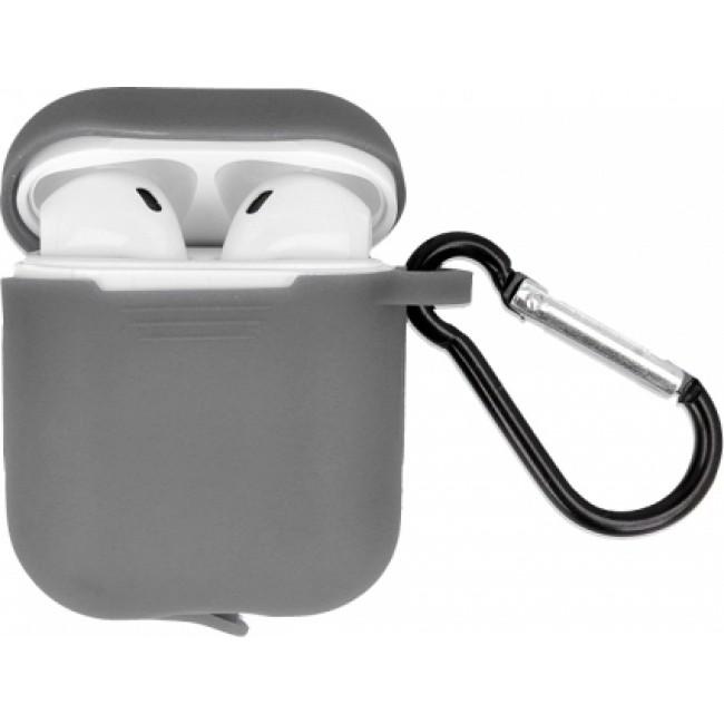 Θηκη για Apple Airpods Senso Silicone with Holder Grey SEBPG2RG