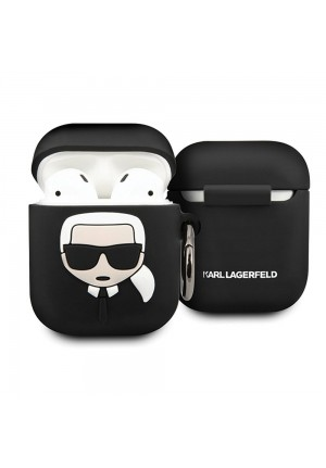 Θηκη για Apple Airpods Karl Lagerfeld Black KLACCSILKHBK