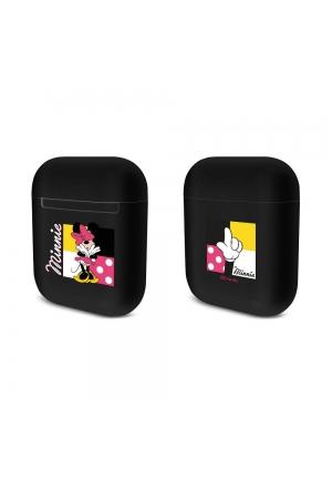 Θηκη για Apple Airpods Silicone Licence Box Disney Minnie Black 003