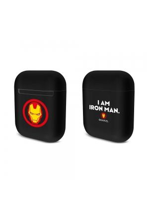 Θηκη για Apple Airpods Silicone Licence Box Iron Man Black 001