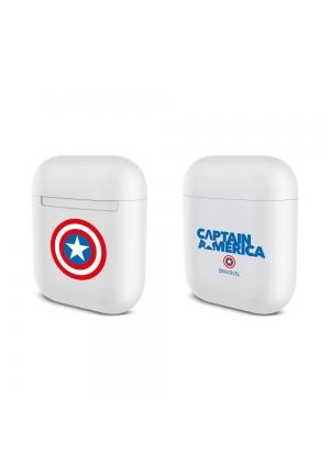 Θηκη για Apple Airpods Silicone Licence Box Captain America White 001