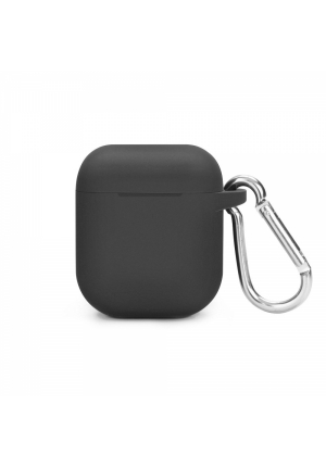 Θηκη για Apple Airpods Senso Silicone with Holder Black SEBPG2BL