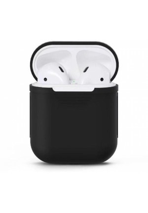 Θηκη για Apple Airpods Senso Silicone without Holder Black SEBPG2BH