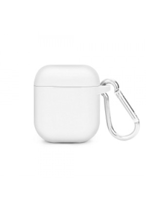 Θηκη για Apple Airpods Senso Silicone with Holder White SEBPG2WH