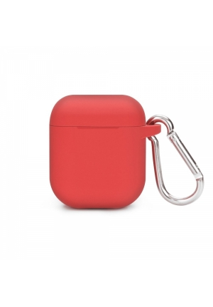 Θηκη για Apple Airpods Senso Silicone with Holder Red SEBPG2RH