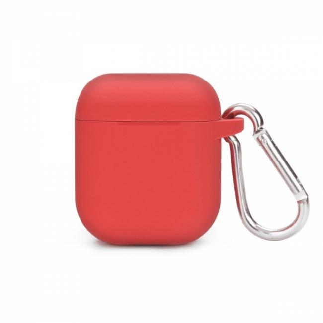 Θηκη για Apple Airpods Senso Silicone with Holder Red SEBPG2RH