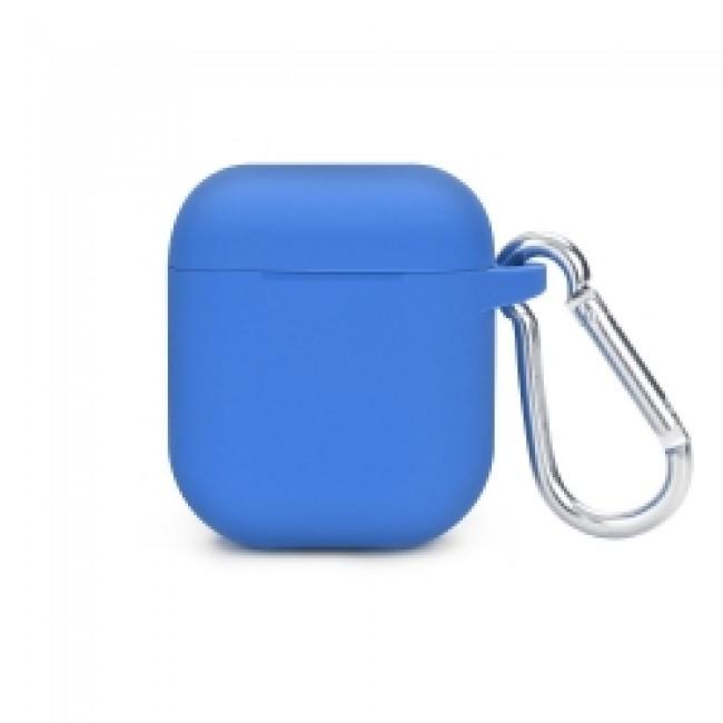 Θηκη για Apple Airpods Senso Silicone with Holder Blue SEBPG2BLH