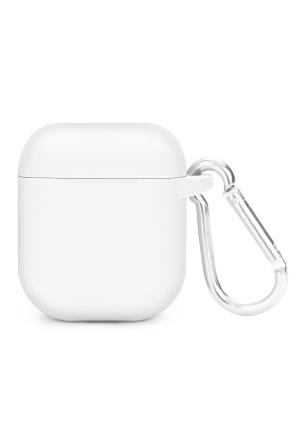 Θηκη για Apple Airpods Silicone Holder Box White