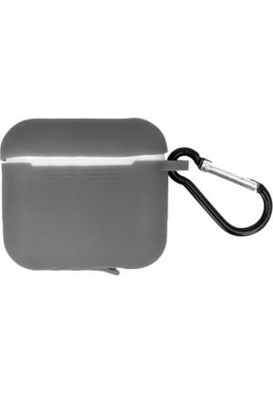 Θηκη για Apple Airpods Pro Senso Silicone Case with Holder Grey SEBAIRPROG