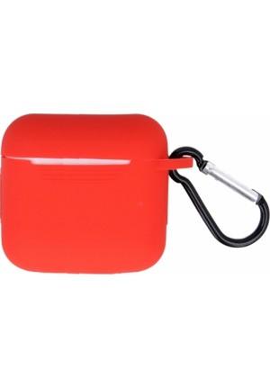 Θηκη για Apple Airpods Pro Senso Silicone Case with Holder Red SEBAIRPROR