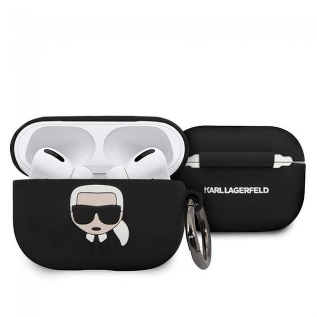 Θηκη για Apple Airpods Pro Karl Lagerfeld Black KLACAPSILKGLBK