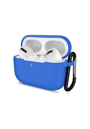 Θηκη για Apple Airpods Pro Senso Silicone Case with Holder Blue SEBAIRPROBL