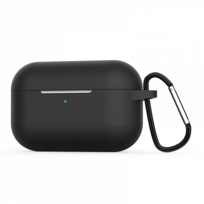 Θηκη για Apple Airpods Pro Senso Silicone Case with Holder Black SEBAIRPROB