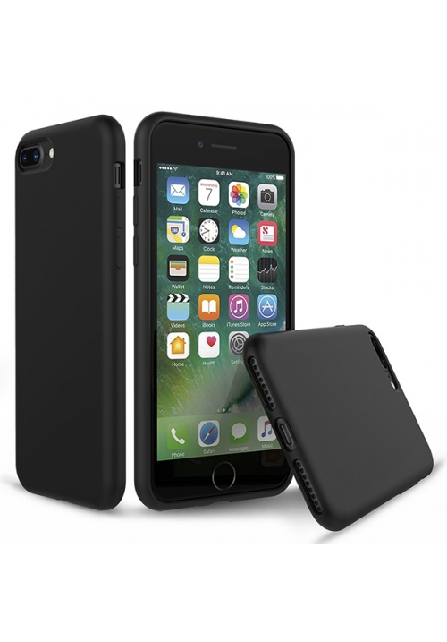 Θήκη για Apple iPhone 7 Plus/8 Plus Tpu Liquid Silicone Black